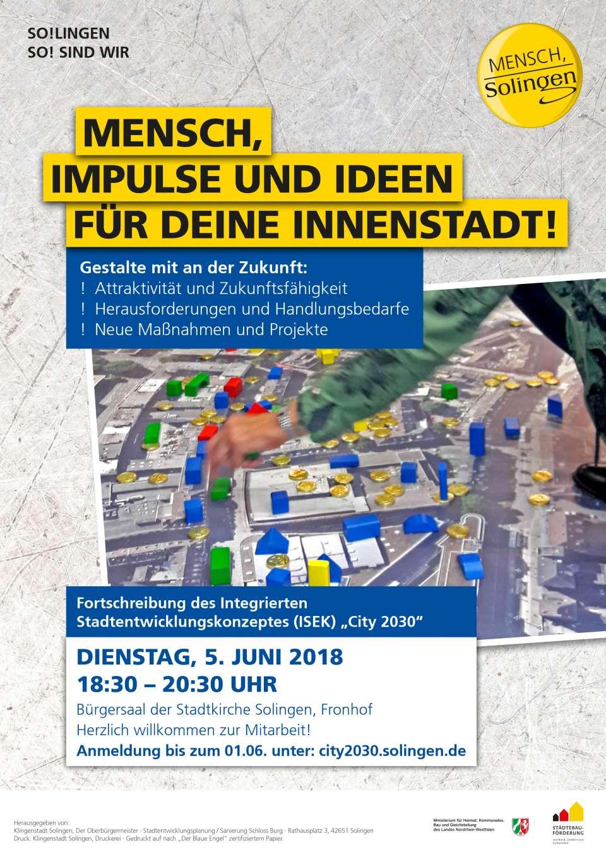 Plakat Bürgerbeteiligung City 2030
